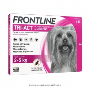 Frontline tri-act 2-5kg 3 pipettes