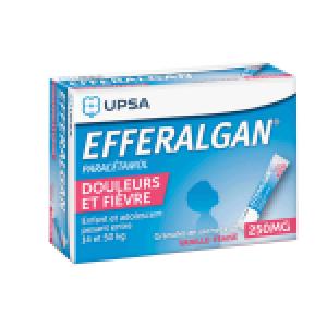 Efferalgan 250 mg sticks vanille-fraise