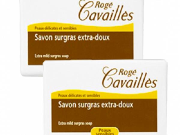 Savon surgras extra-doux lait de rose 2*250 gr